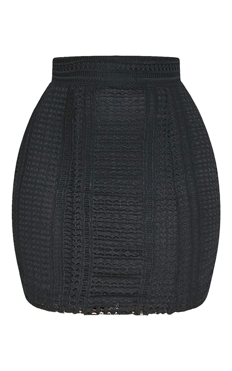 Nadene minijupe crochetée noire 3