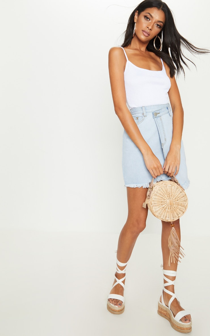White Crinkle Textured Cami Top 4