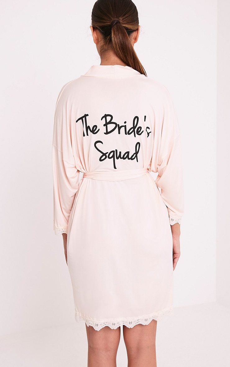 The Bride's Squad Nude Slinky Dressing Gown 2