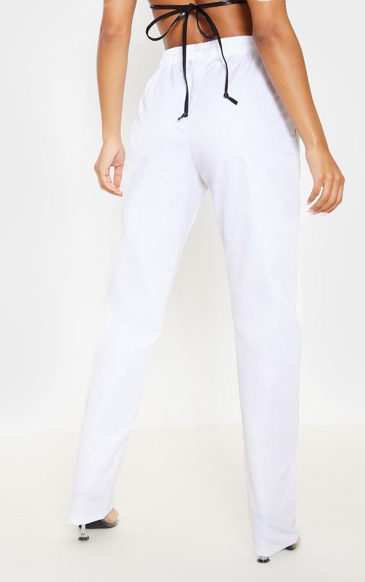 White Shell Cuff Straight Leg Pants 4
