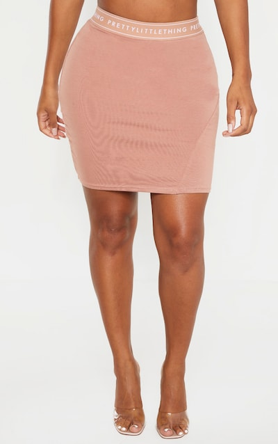 PRETTYLITTLETHING Shape Fawn Band Bodycon Skirt