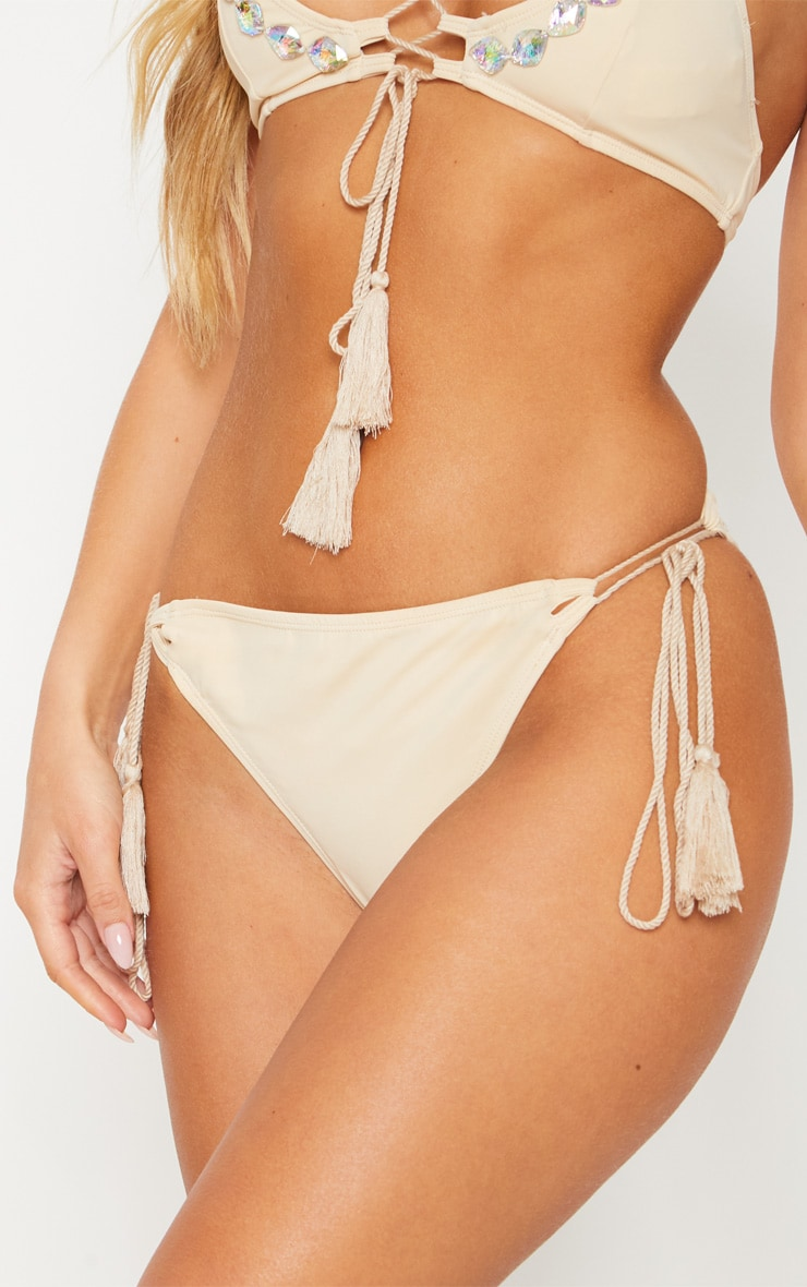 Rope Detail Lace Up Bikini Bottom 6