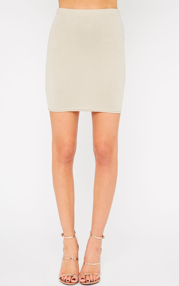 Emilia Stone Crepe Mini Skirt 2