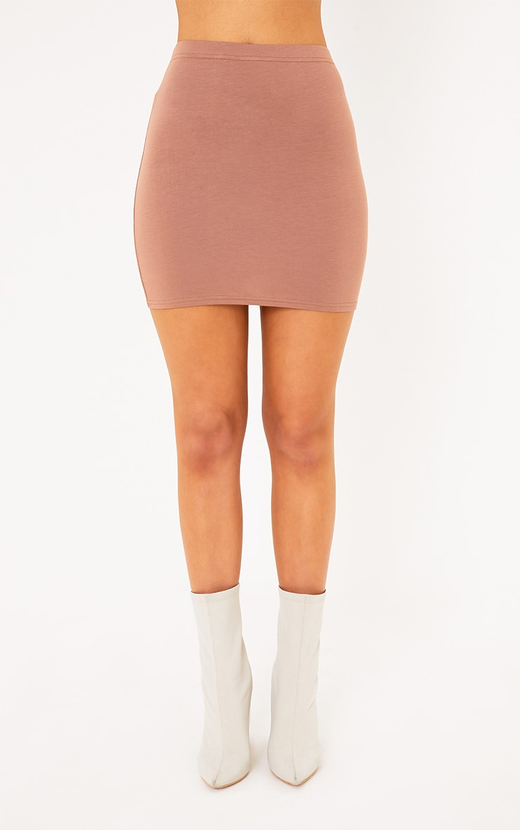 Basic Camel Mini Skirt 2