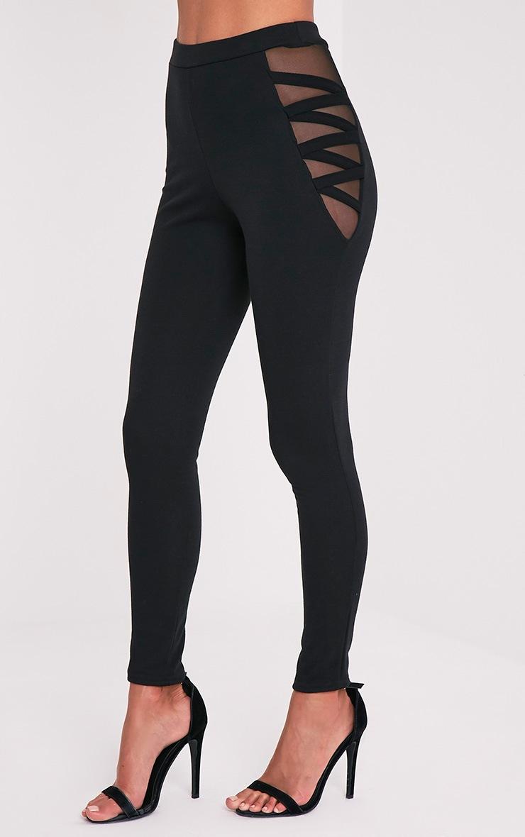 Silvie Black Mesh Hip Leggings 4