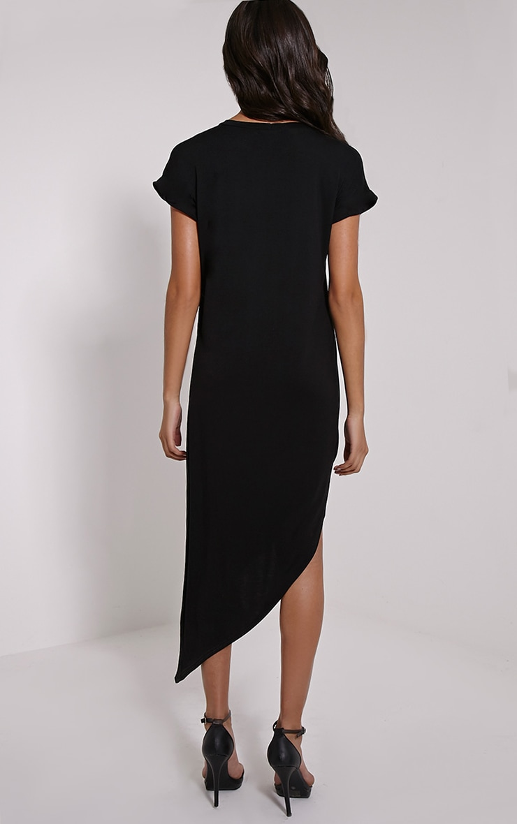 Nolah Black Asymmetric T-Shirt Dress 2
