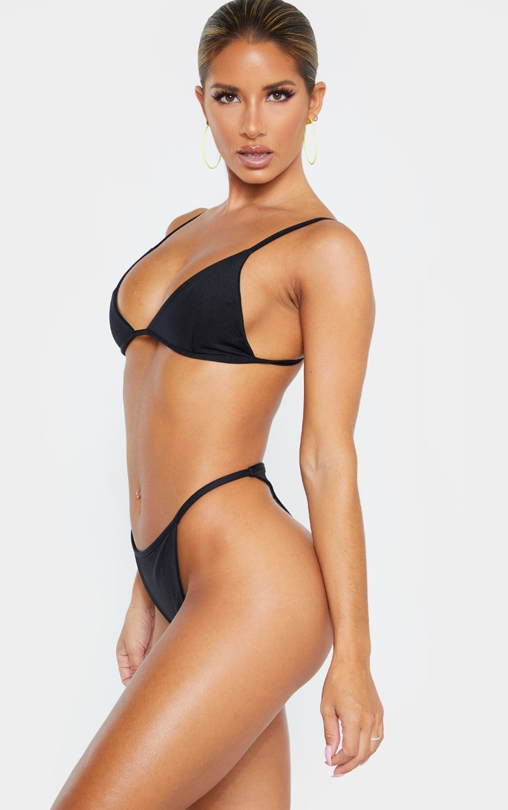 Black Mix & Match String Thong Bikini Bottom 2