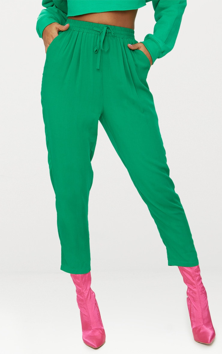 Bright Green Casual Trousers 2