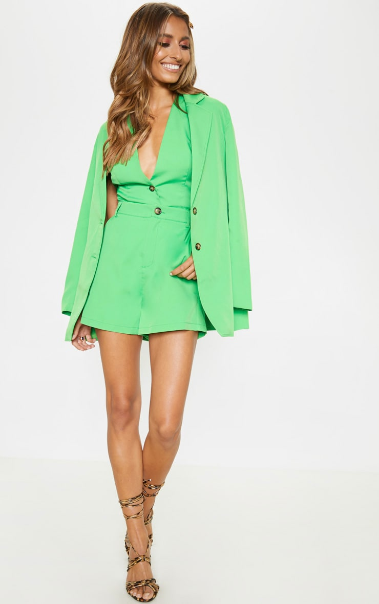 Neon Green Formal Suit Short  4