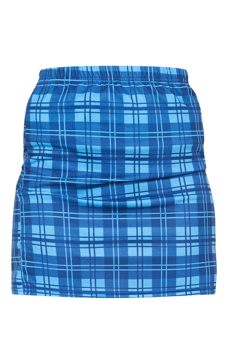 Bright Blue Check Mini Skirt 6