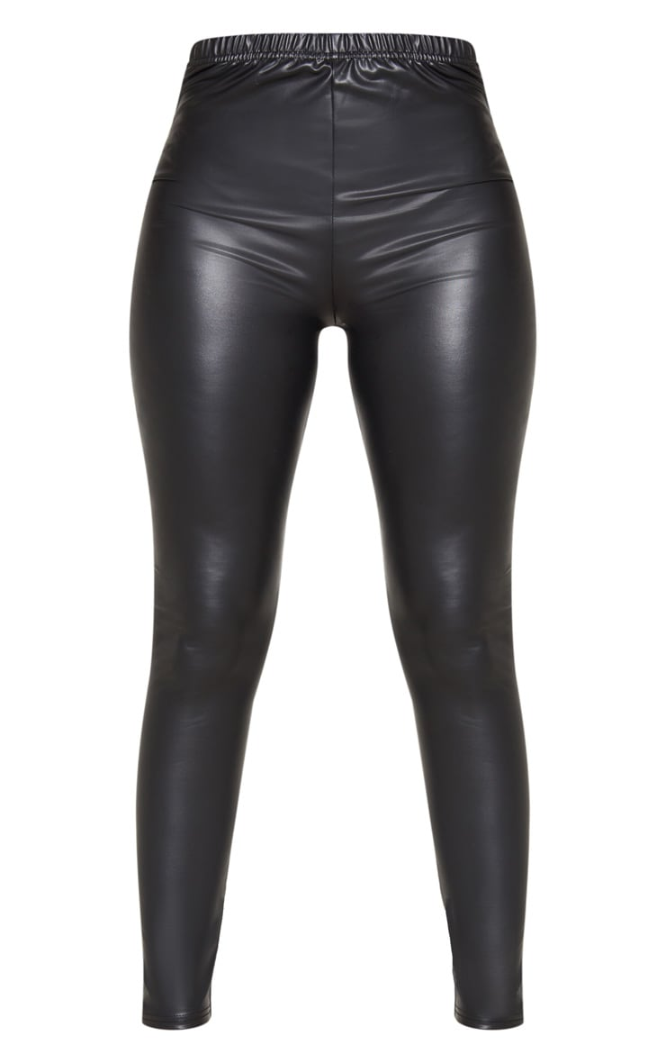 Petite Black PU Leggings 3