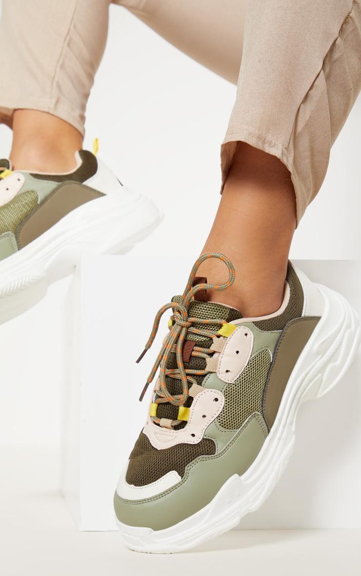khaki green ladies trainers new style