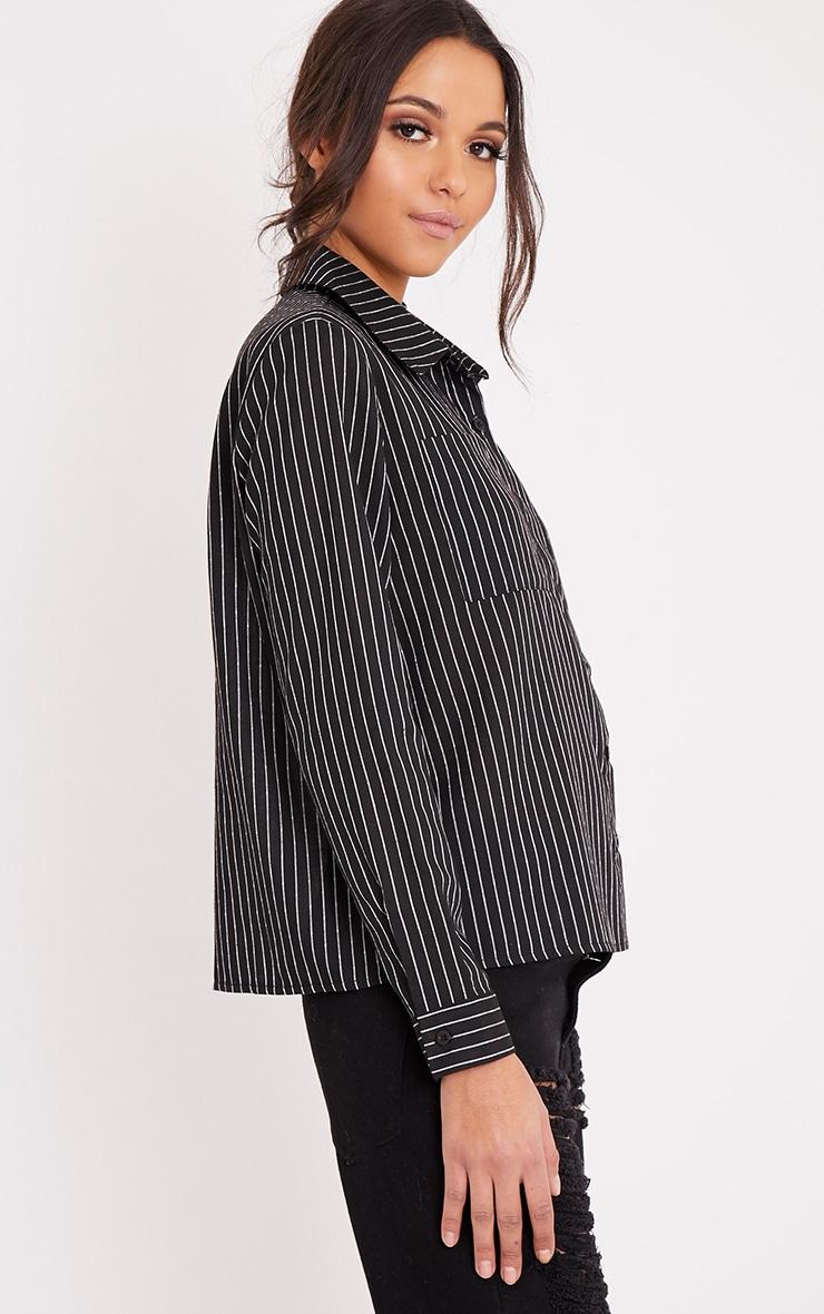 Bethany Black Soft Stripe Shirt 4