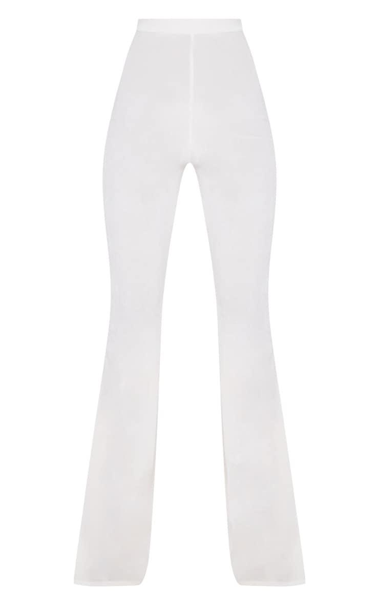 Cream Velvet Flared Trousers 3