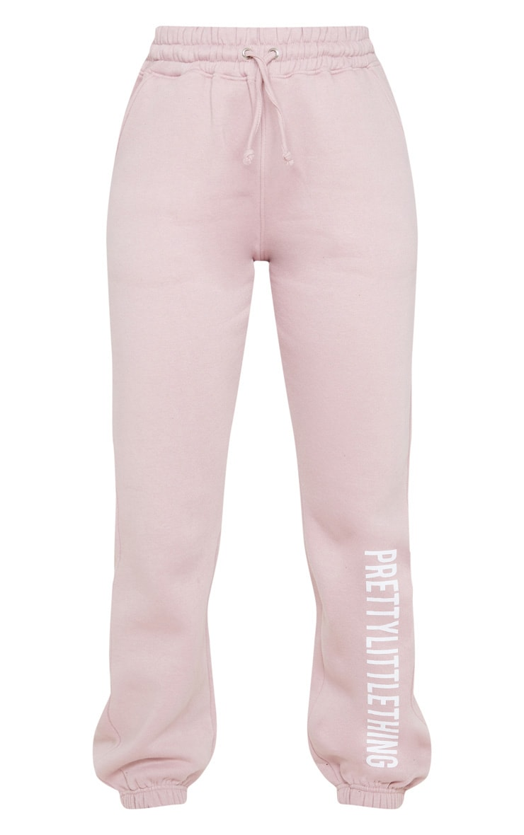 PRETTYLITTLETHING Pale Pink Slogan Joggers 3