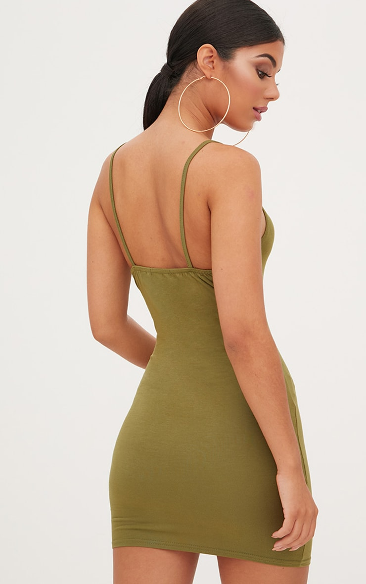 Green Strappy Bodycon Dress 2