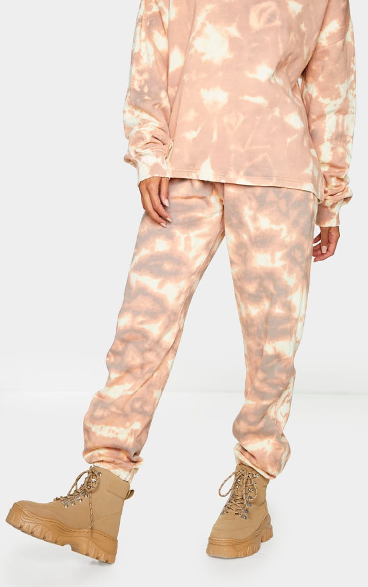 Light Brown Tie Dye Cuffed Joggers 2