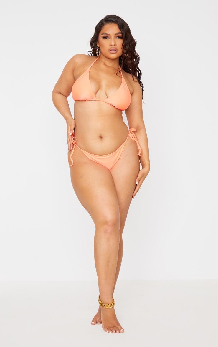 Recycled Plus Coral Mix & Match Triangle Bikini Top 3