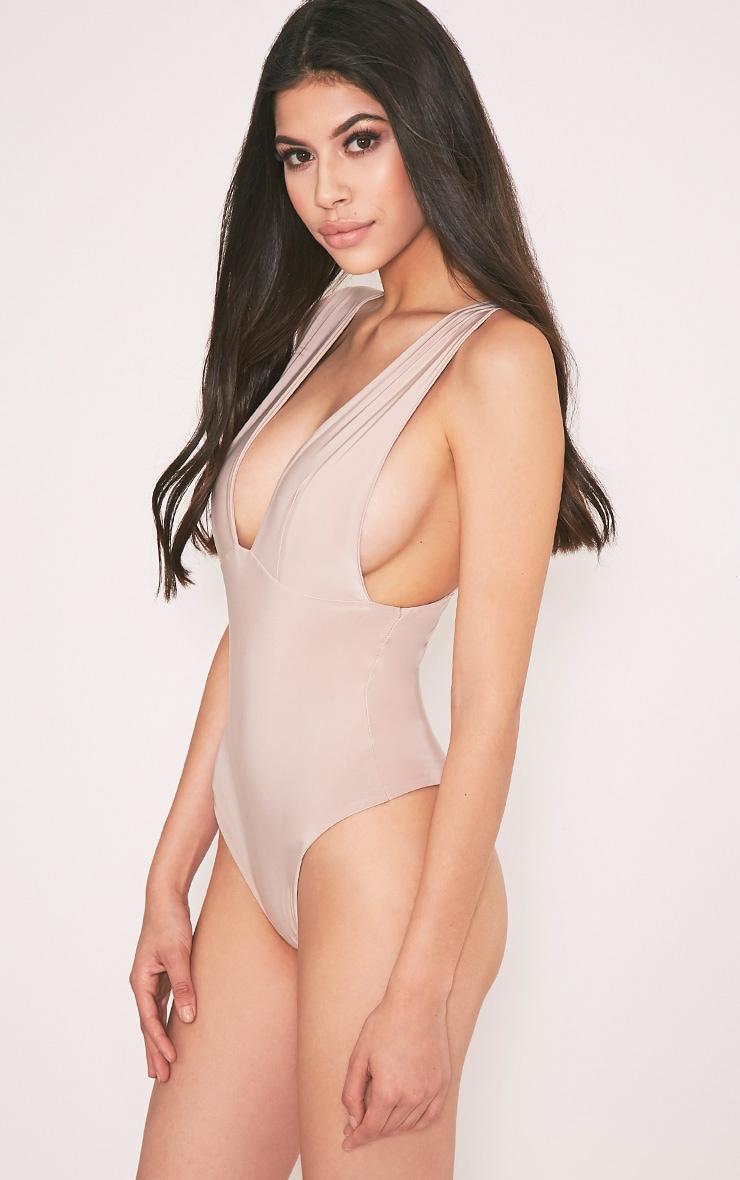 Vana Nude Slinky Plunge Thong Bodysuit 3