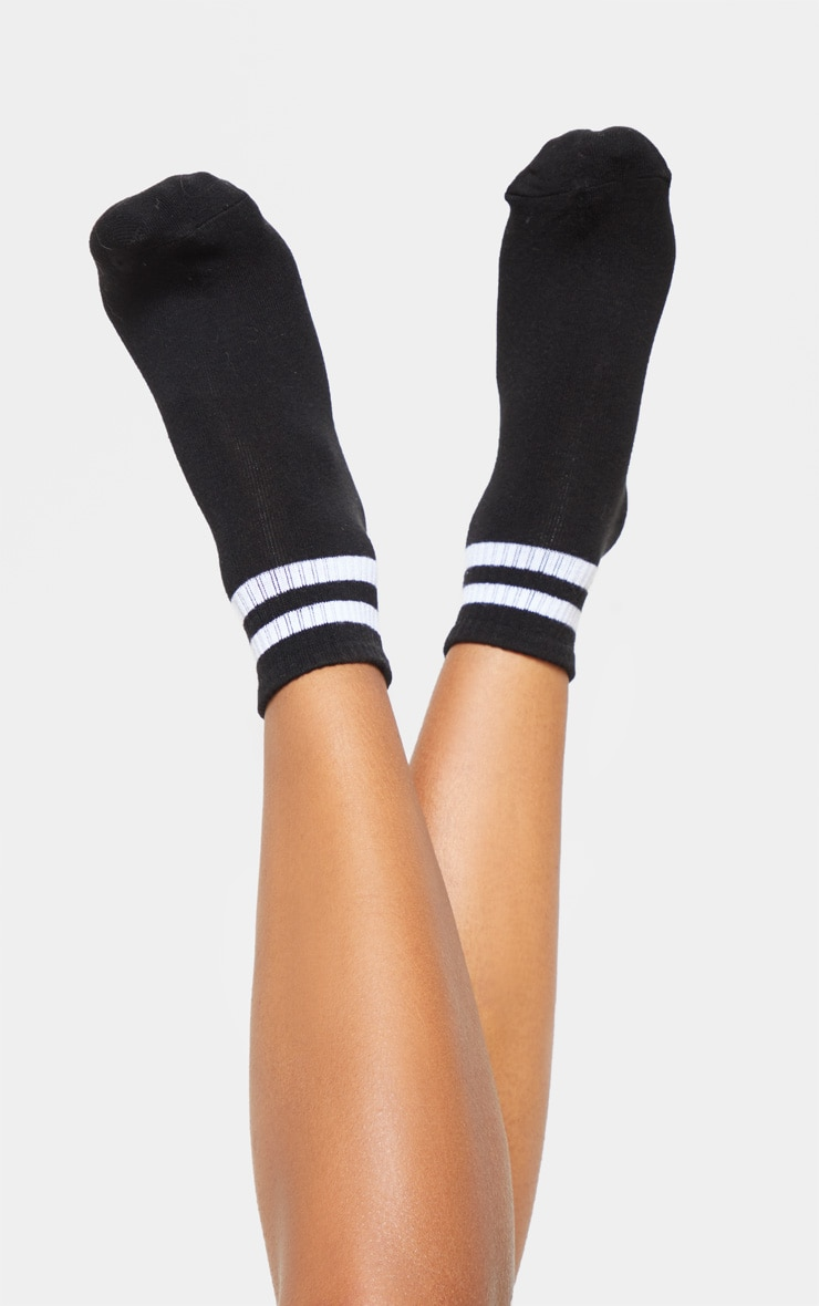 Black And White Two Pack Ankle Socks 2
