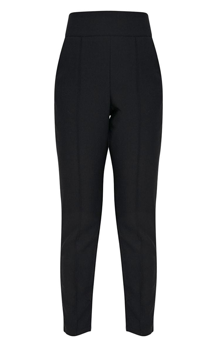 Wendy pantalon à ourlet sur le devant noir 4