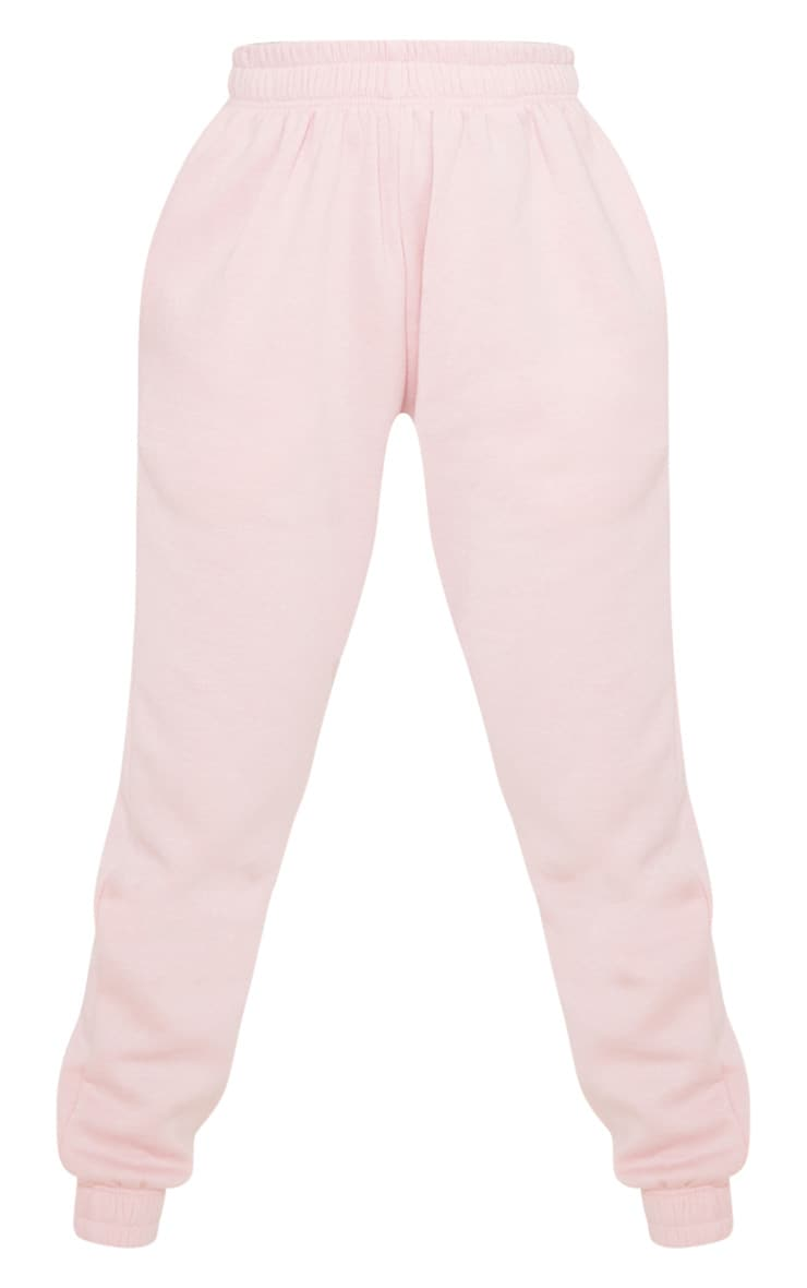 PRETTYLITTLETHING Baby Pink Diamante Slogan Jogger 3