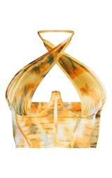 Orange Tie Dye Woven Underbust Corset Top 5