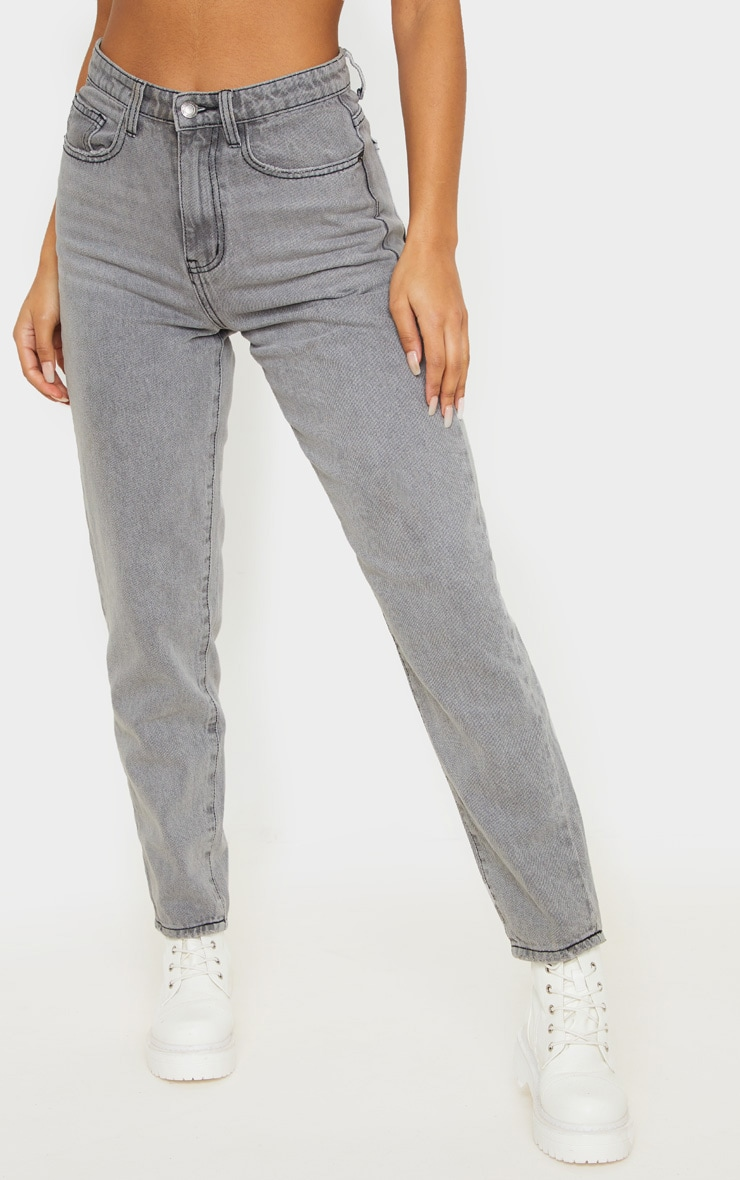 PRETTYLITTLETHING Grey Mom Jean 2