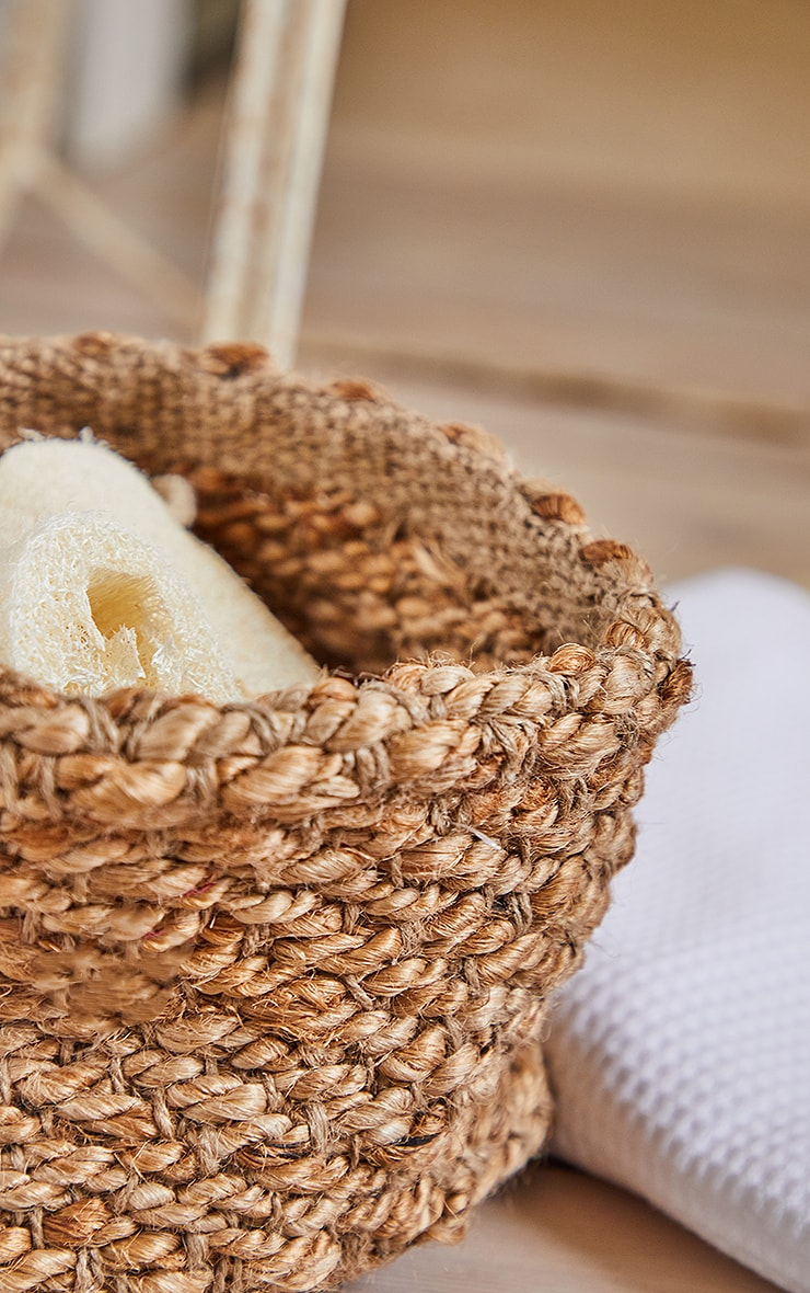 Natural Square Woven Basket 2