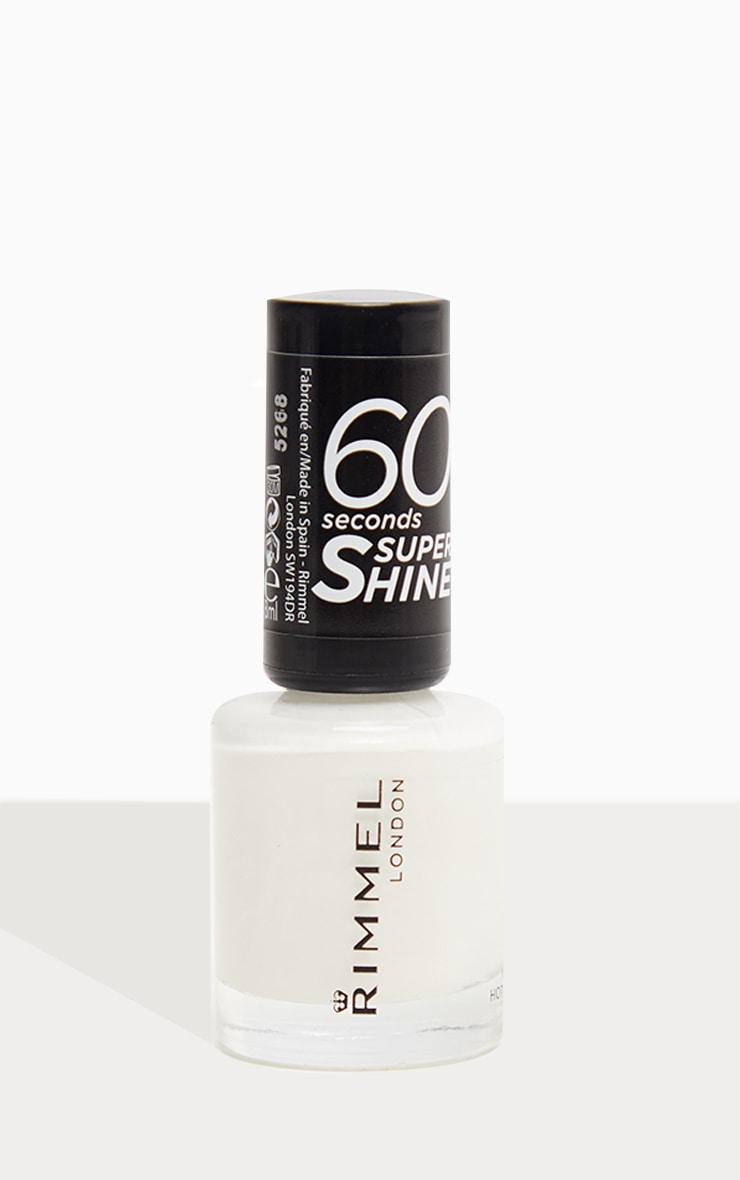 Rimmel 60 Seconds Super Shine Nail Polish White Hot Love 2