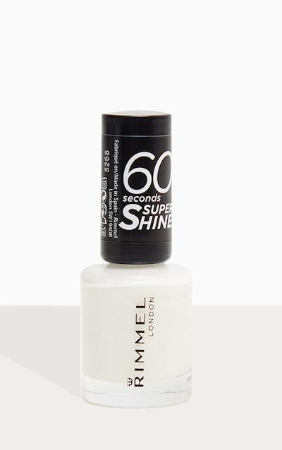 Rimmel 60 Seconds Super Shine Nail Polish White Hot Love