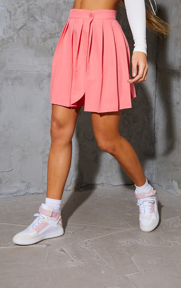 Bubblegum Pink Woven Skater Skirt 2