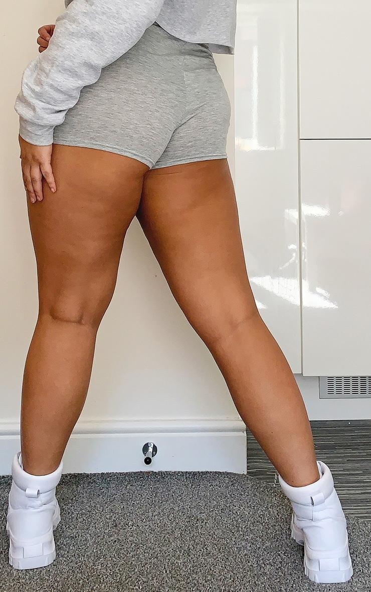 Plus Basic Grey High Waisted Shorts 3