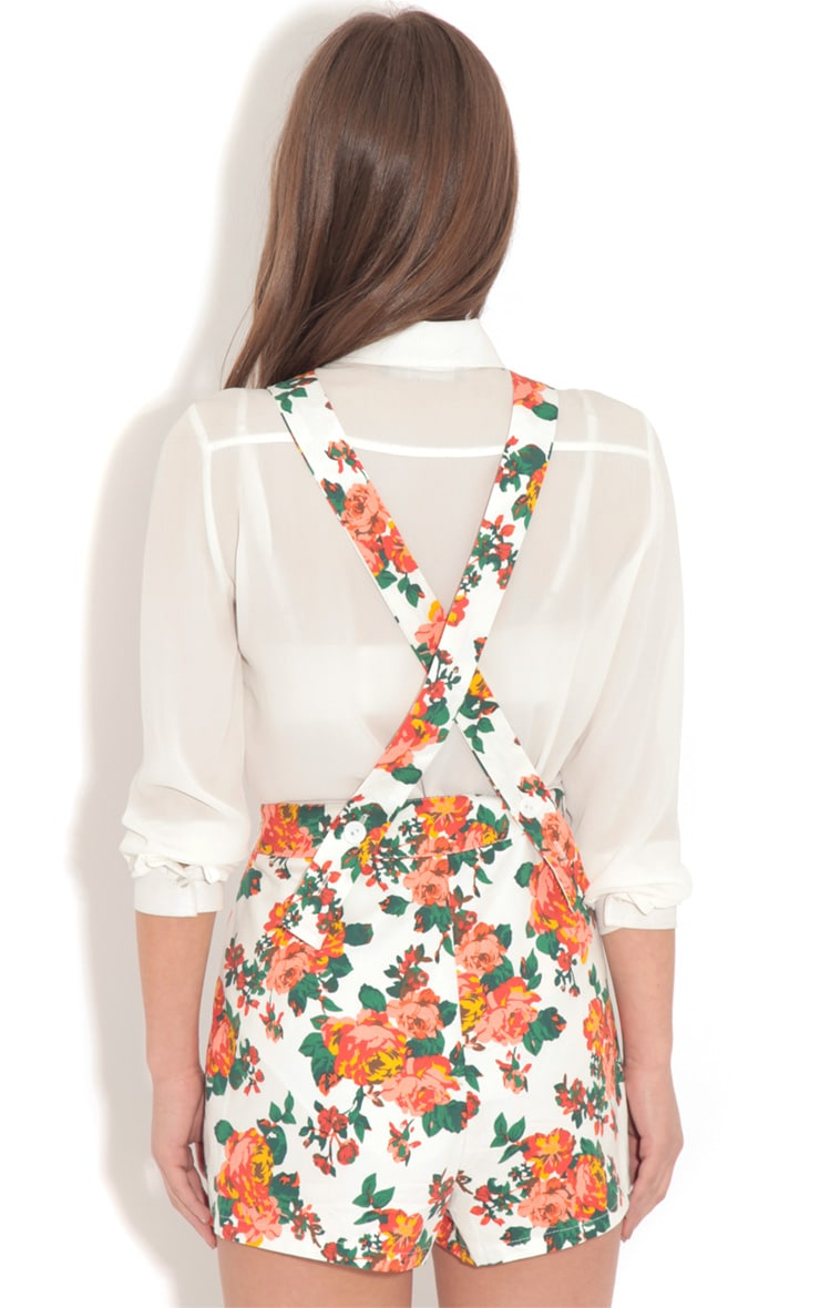 Susie White Floral Playsuit 2