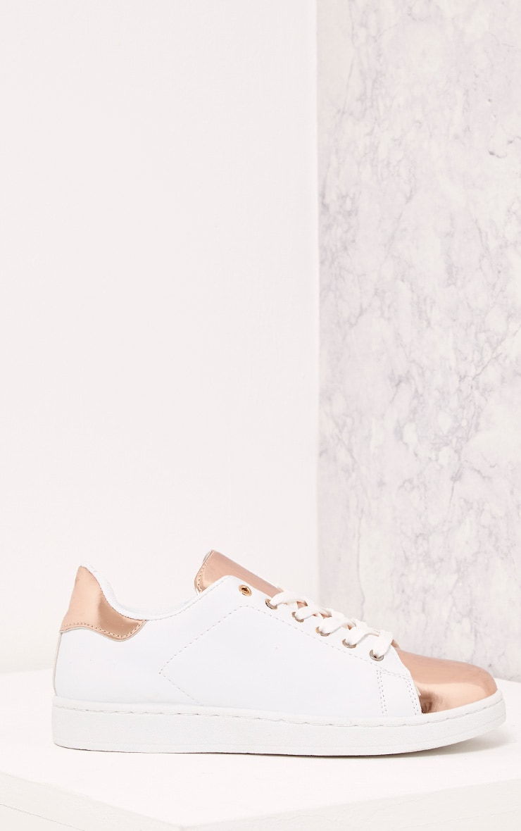 Baely Rose Gold Metallic Toe Trainers 3
