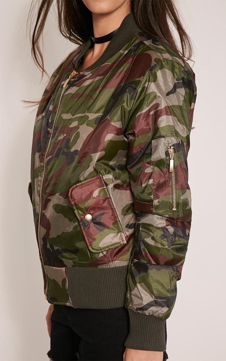 Alexus Green Camouflage Bomber Jacket 6