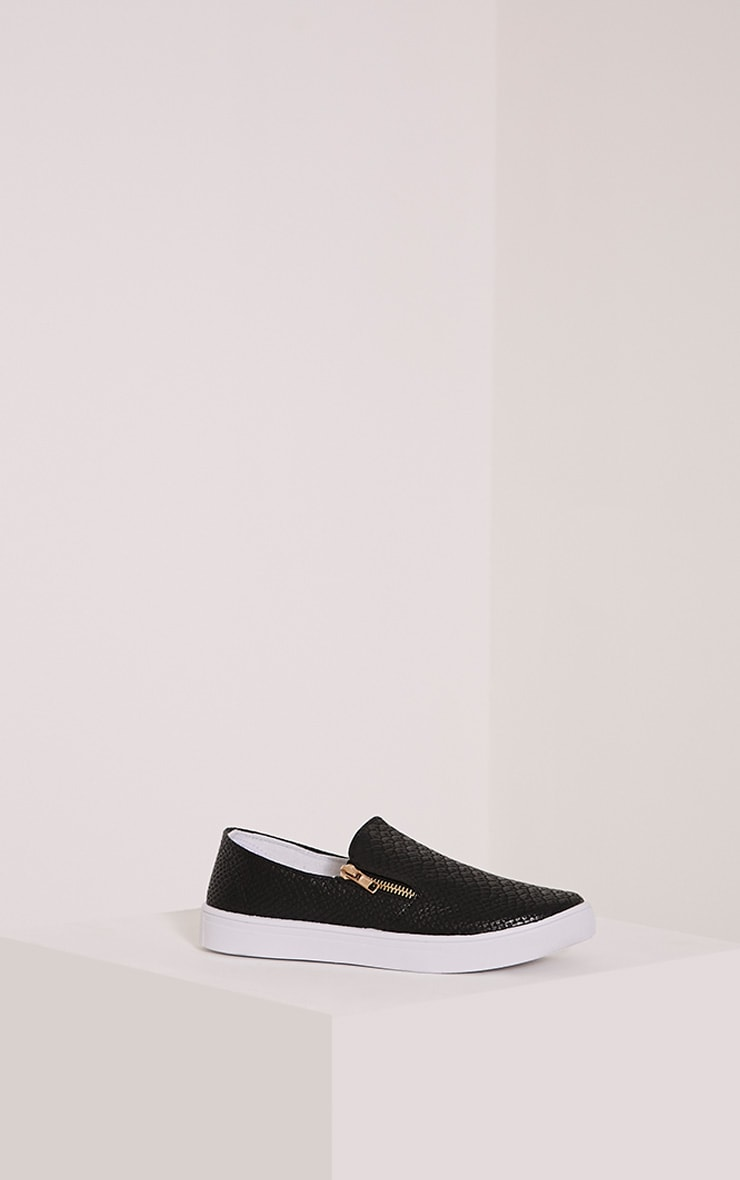 Rori Black Casual Slip On Trainers 3