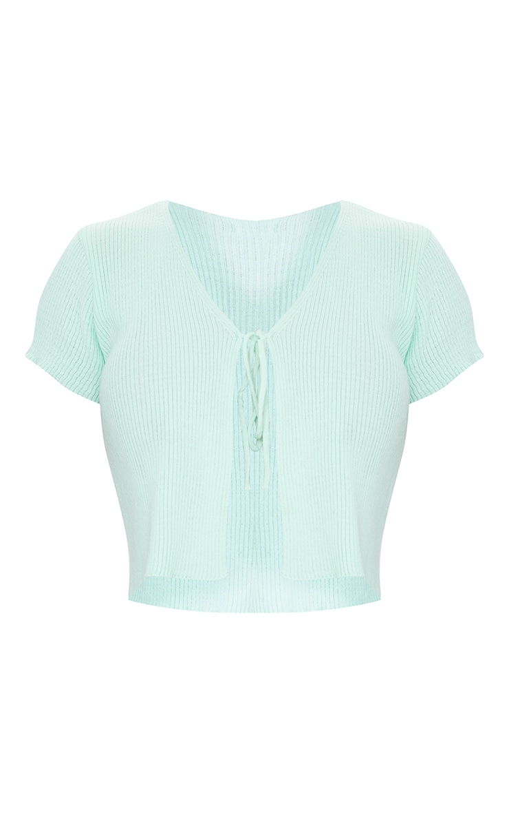 Mint Short Sleeve Tie Front Cardigan 5