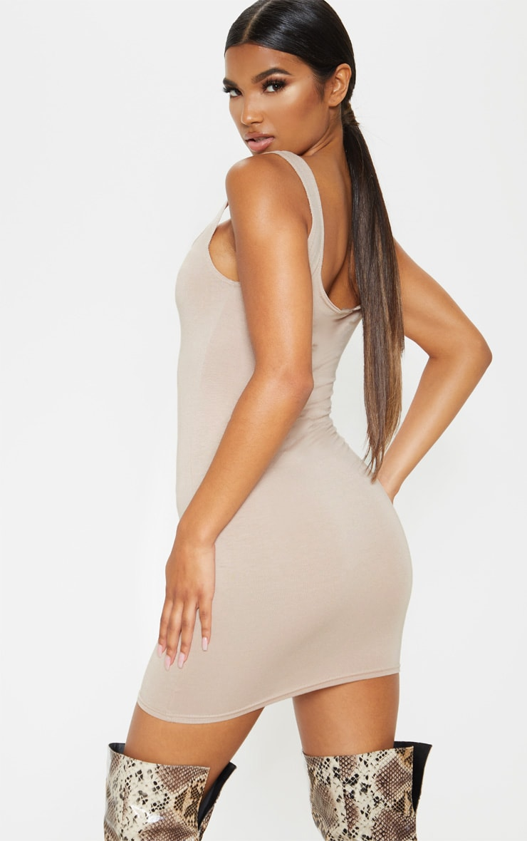 Stone Square Neck Bodycon Dress 2