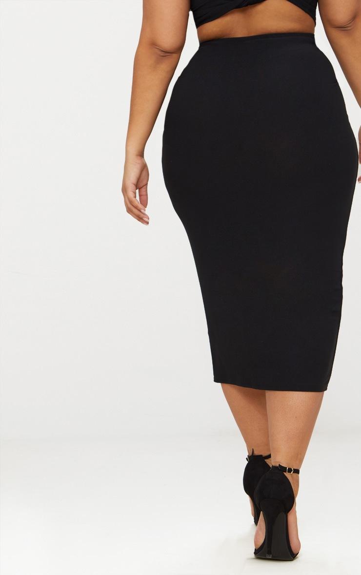 Plus Black Midaxi Skirt 4