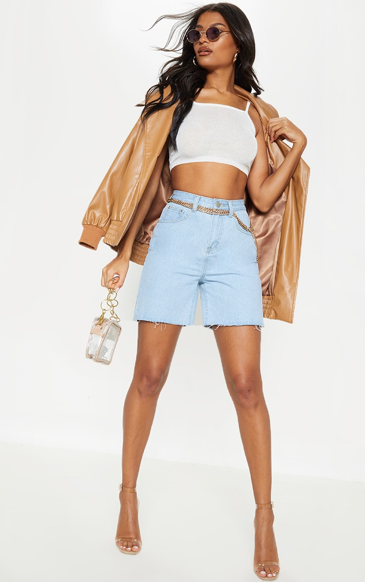 Cream Knitted Sheer Vest  4