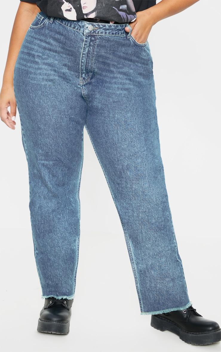 Plus Mid Wash Straight Leg Jean  2