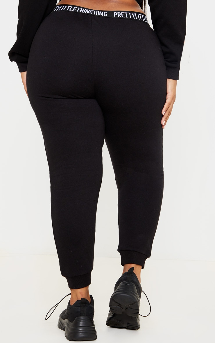 PRETTYLITTLETHING Plus Black Lounge Jogger 4