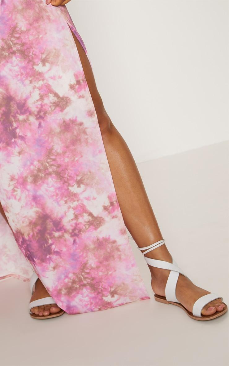 Pink Tie Dye Maxi Skirt 5