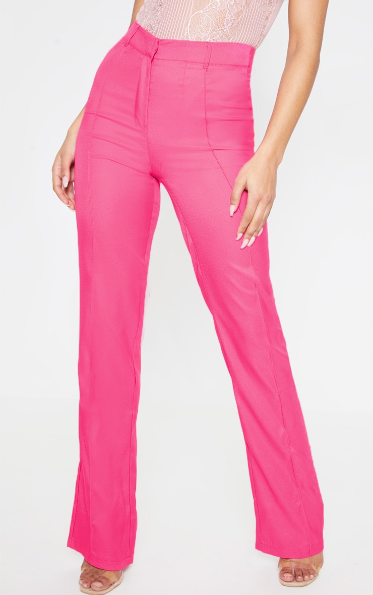 Anala Pink High Waisted Straight Leg Pants 2