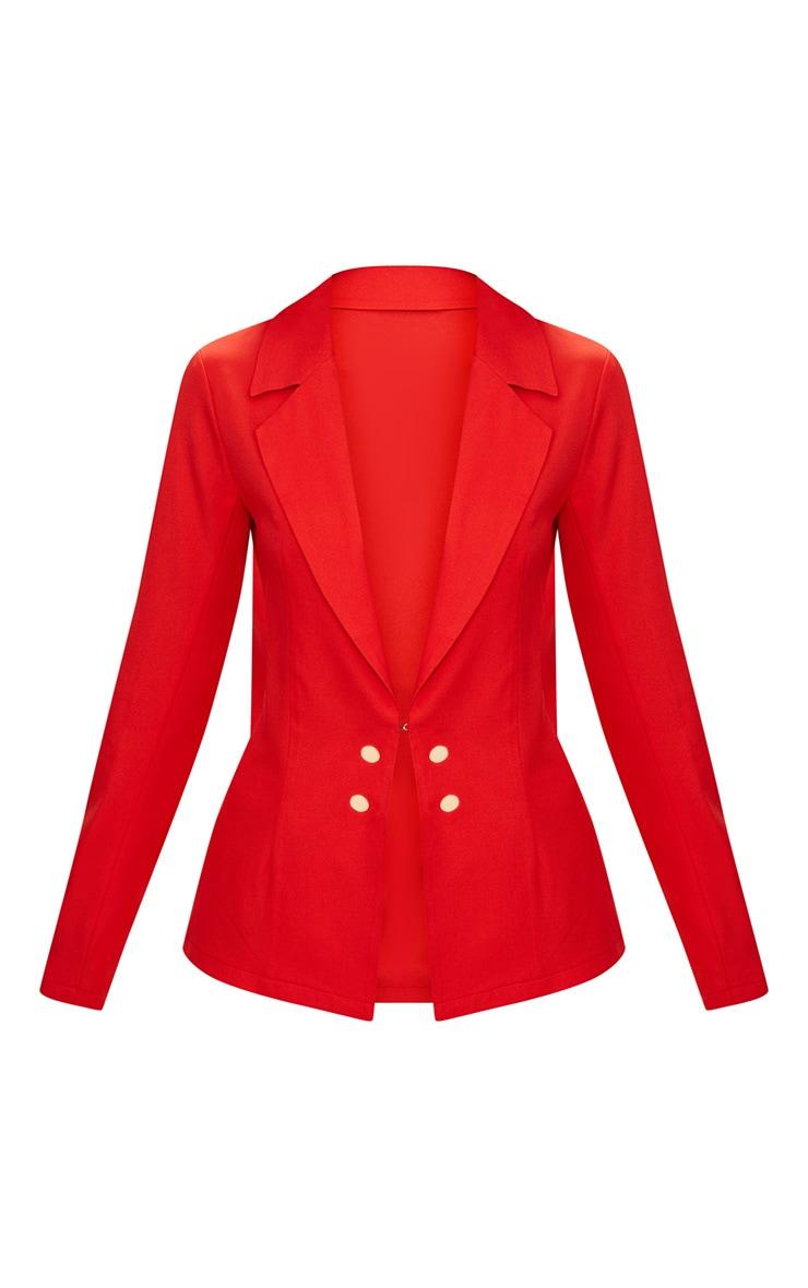 Petite Red Oversized Blazer 3
