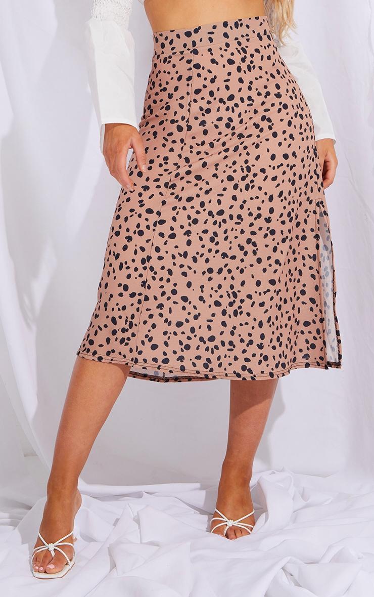 Tan Dalmatian Floaty Midi Skirt 2