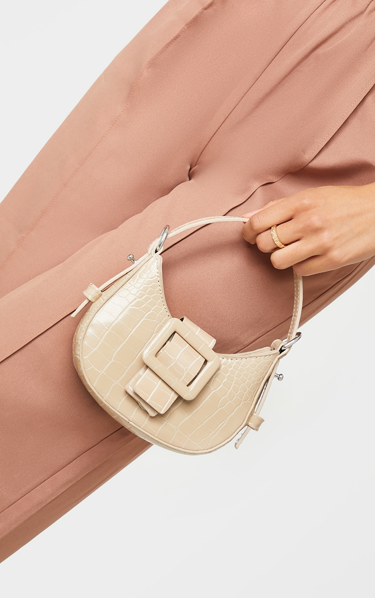 Nude Croc Mini Buckle Grab Bag 2