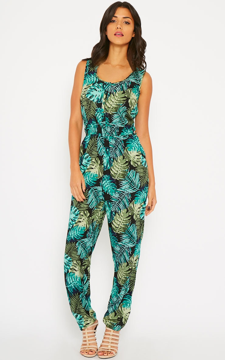Bellina Hawaiian Print Jumpsuit 4