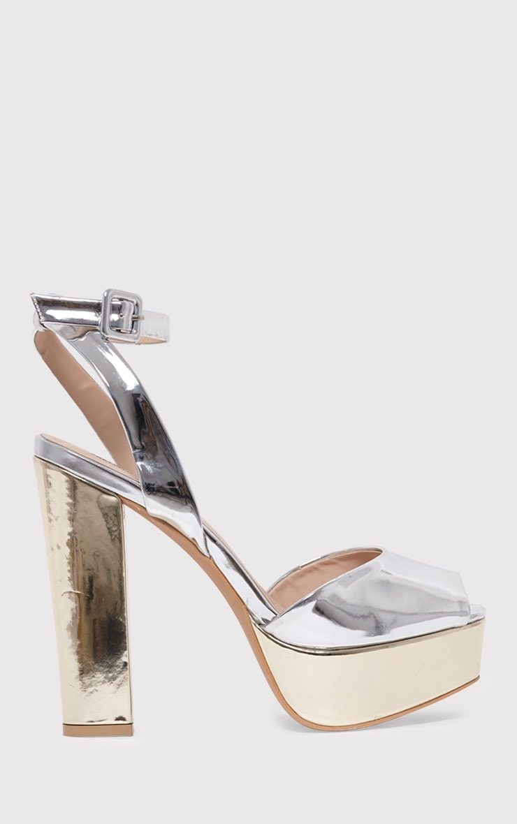 search for official special section select for newest Dianne Silver Metallic Platform Heels